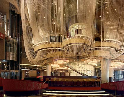 Publicity photo of The Chandelier bar at the Cosmopolitan Hotel in Las Vegas
